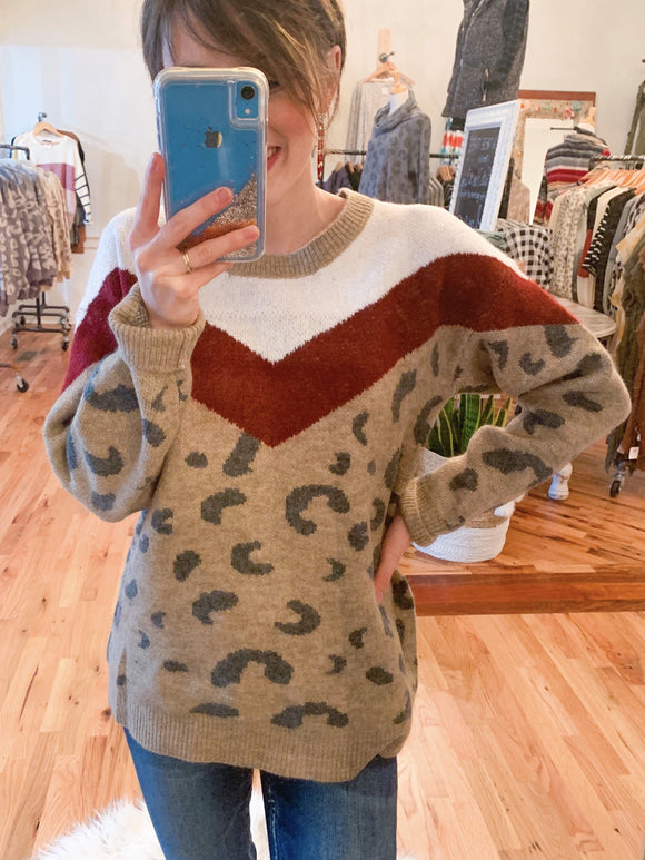 The Holiday Chevron Sweater-Carolyn Jane's Jewelry