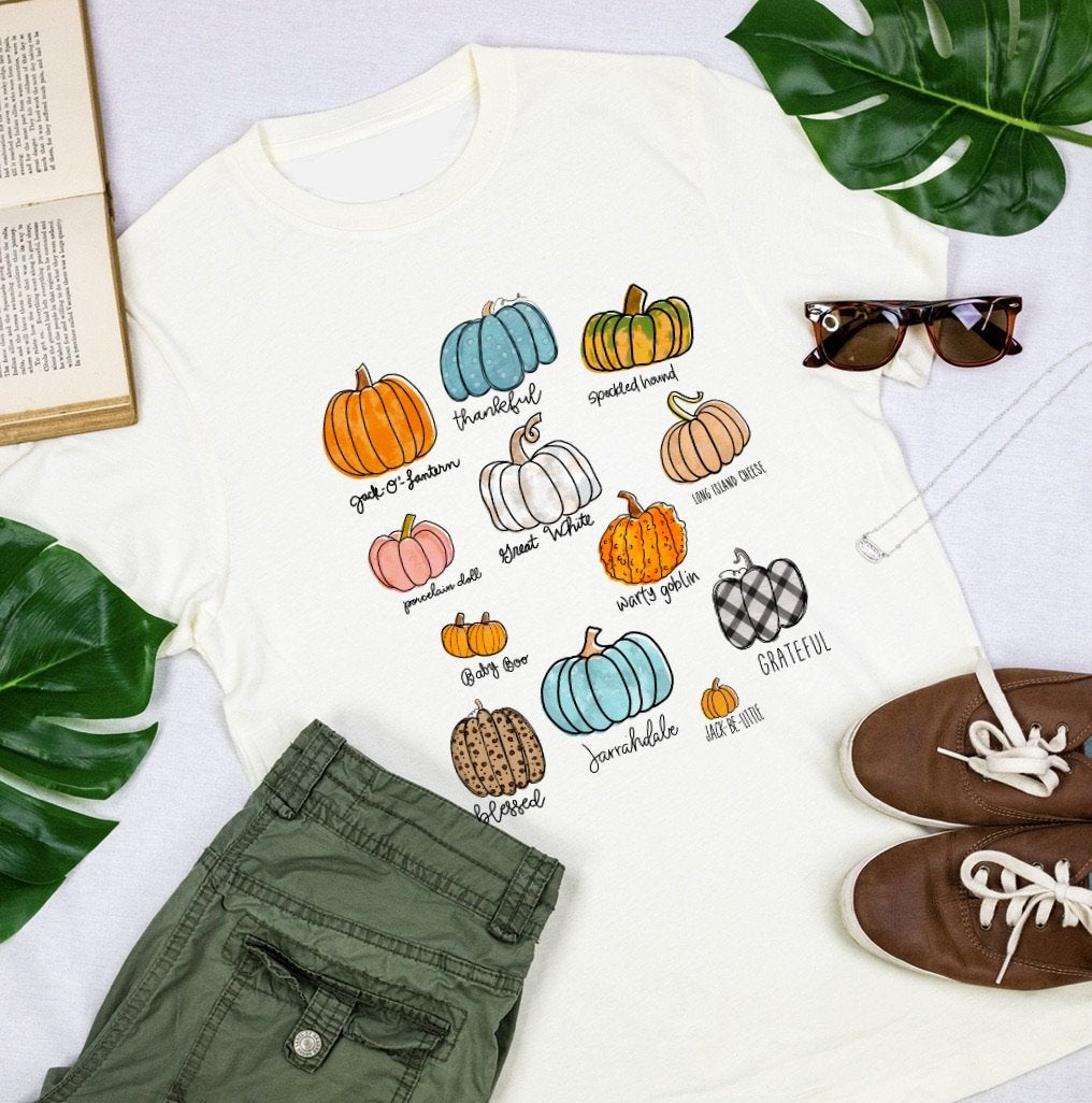 The Thankful Pumpkin Patch Fall T-Shirt-Carolyn Jane's Jewelry