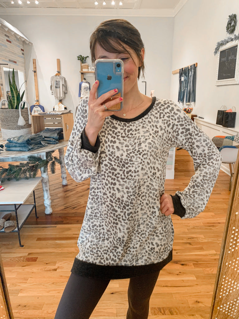Vera Soft Animal Print Top-Top-Carolyn Jane's Jewelry