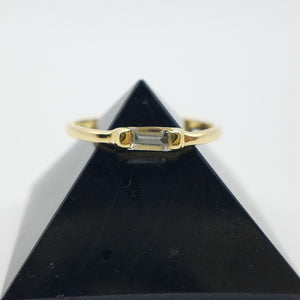 Pyramid Blue Topaz Elysian Divorce Ring