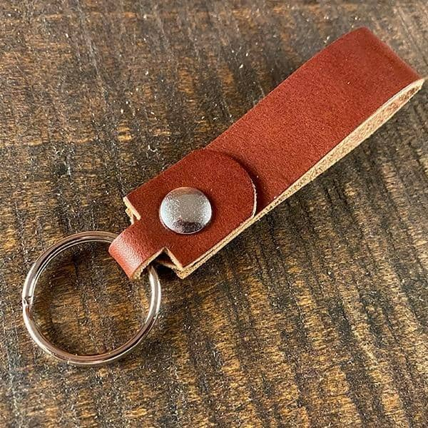 The Agent's Keychain - British Brown English Bridle - Amopelle Co.