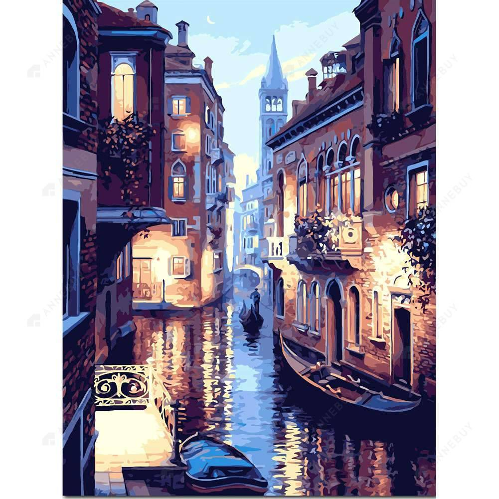Paint By Numbers-30x40cm Venice DIY Paint By Numbers Oil Painting Kit