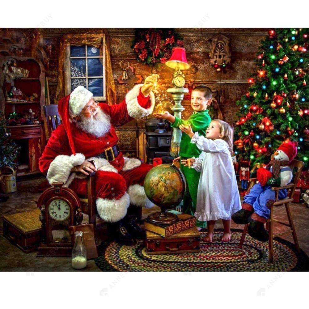 Diamond Painting-Partial Round Drill Santa Claus