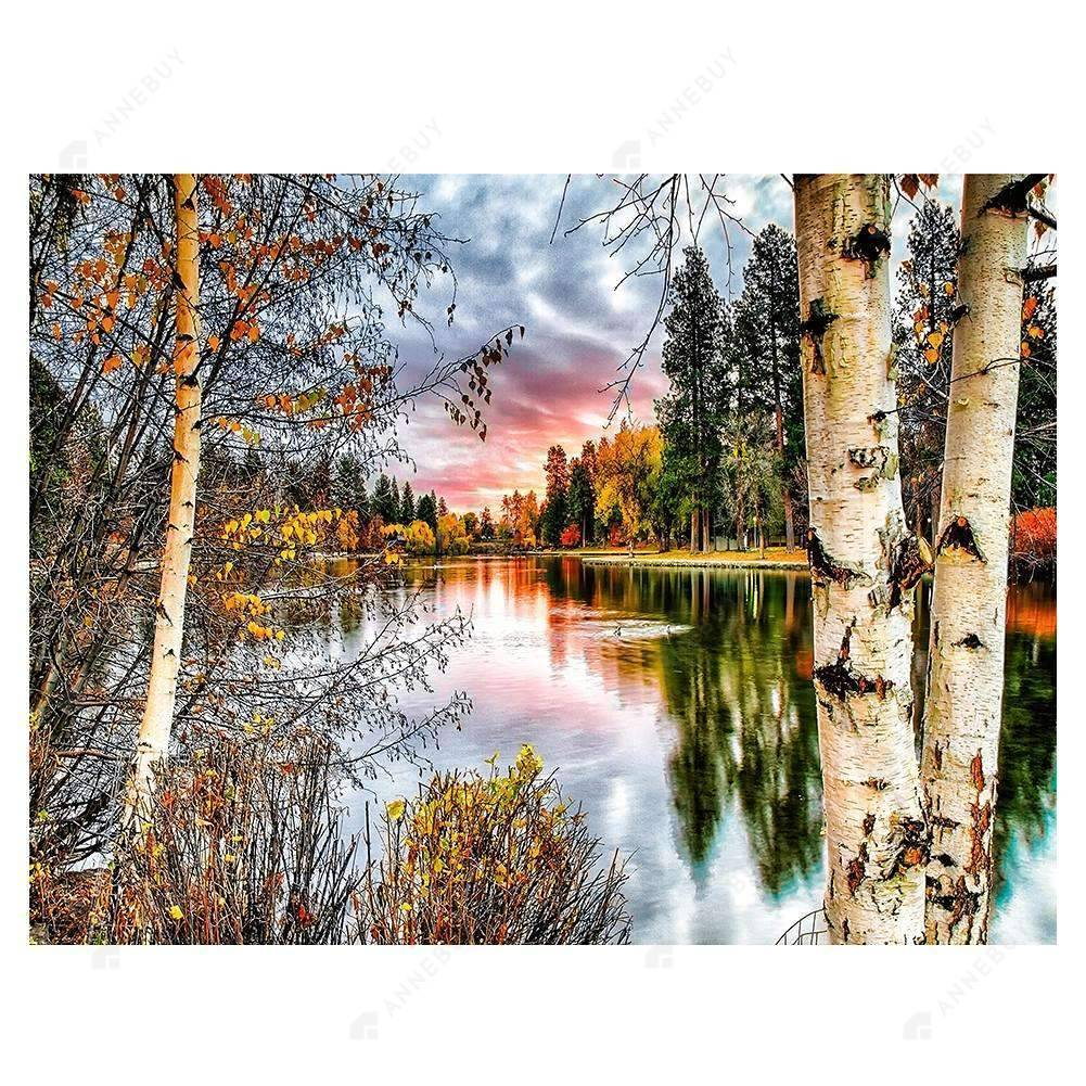 Diamond Painting-Partial Drill Forest Landscape