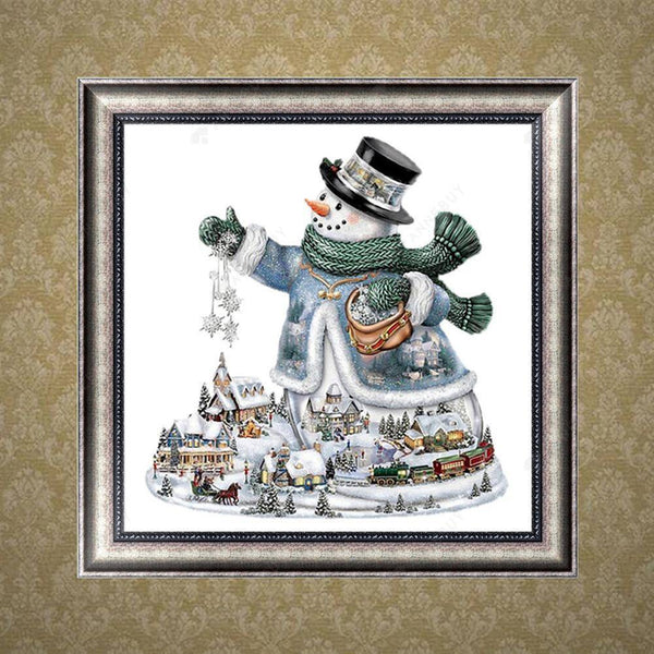 Diamond Painting-Partial Drill Snowman