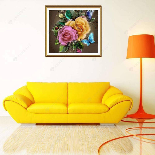 Diamond Painting-5D Full Drill Charming Flowers