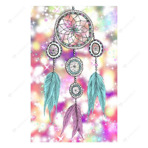 Diamond Painting-Partial Drill Shining Dream Catcher
