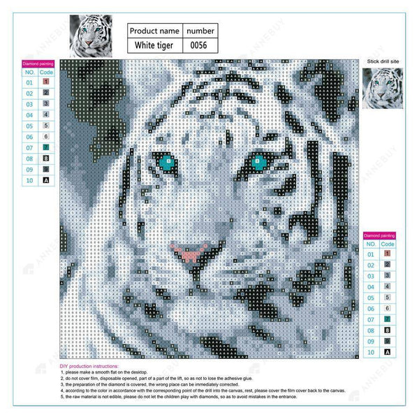 Diamond Painting-5D Full Drill Tiger Head