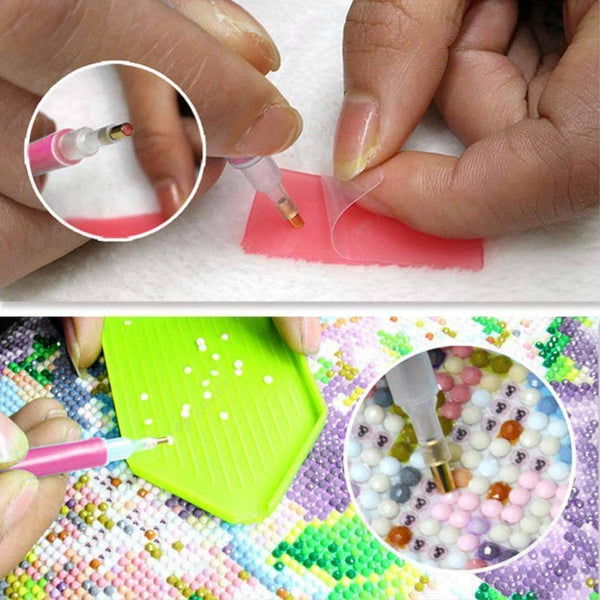 Painting Accessories-24pcs Drill Pens Cross Stitch Embroidery Tools Set