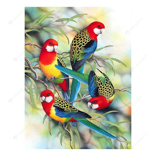 Diamond Painting-Partial Round Drill Parrots