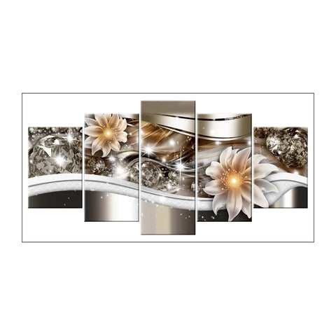 Diamond Painting-5D Full Round Drill 5pcs Flower