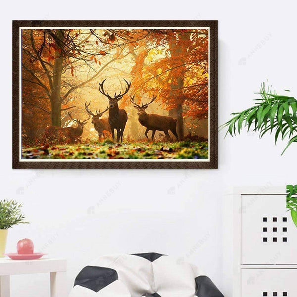 Diamond Painting-5D Full Drill Cute Deer