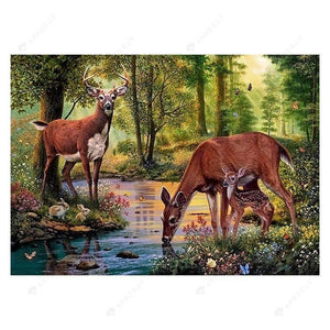 Diamond Painting-Partial Drill Deer