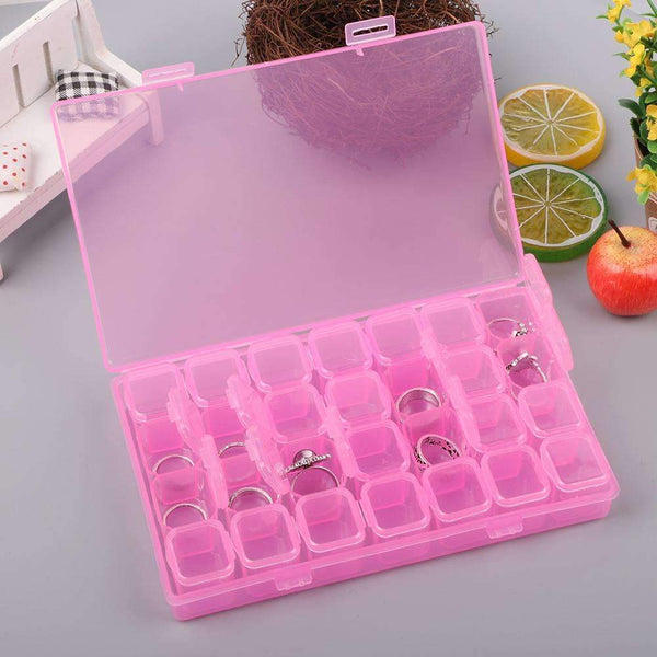 Drill Storage Box-28 Grids Storage Box Plastic Fashion Drill Storage Box