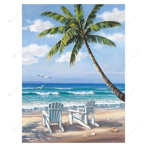 Diamond Painting-5D Full Drill Coconut Tree