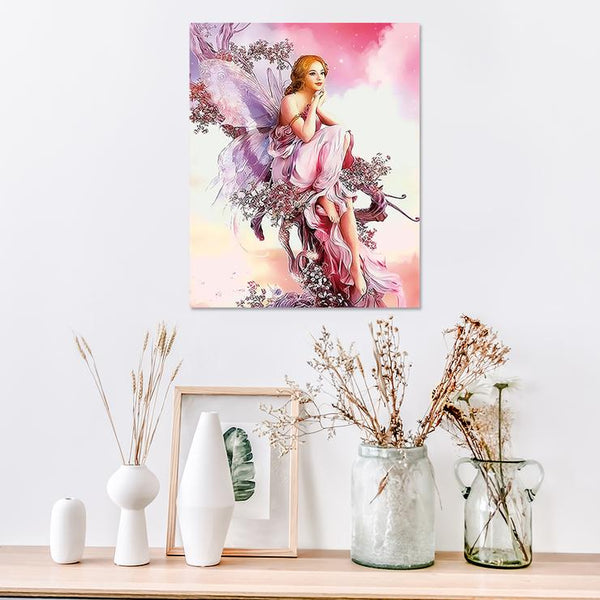 Paint By Numbers- Frameless 3D DIY Butterfly Elves(30*40 CM)