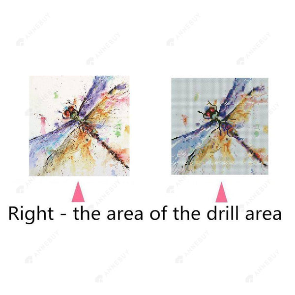 Diamond Painting -Full Round Drill Dragonfly
