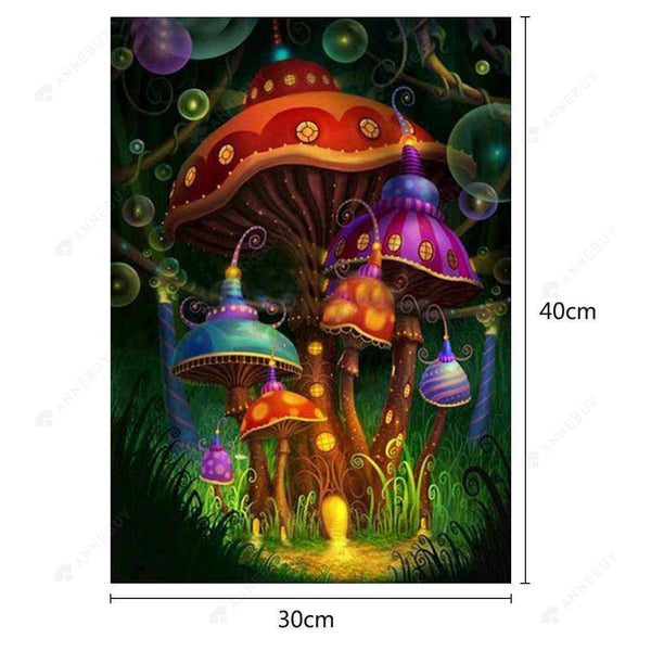 Diamond Painting -Full Round Drill Gorgeous Mushroom
