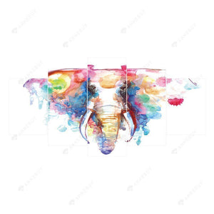 Diamond Painting -Full Round Drill 5pcs Elephant