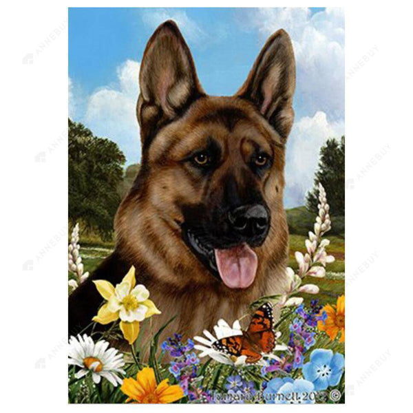 Diamond Painting -DIYI Full Round Drill German Shepherd