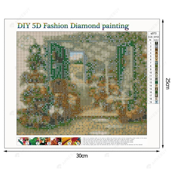 Diamond Painting -Full Drill Yard Flowers
