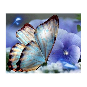 Diamond Painting -Full Drill Blue Butterfly