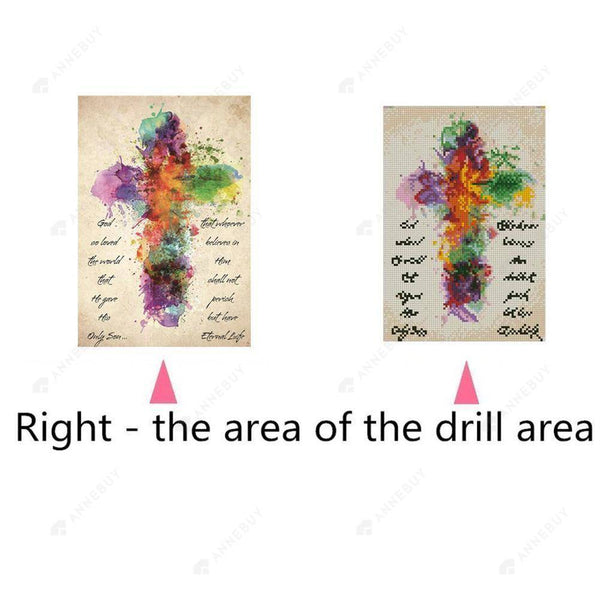 5D Full Drill-Cross Colorful Cross Stitch Embroidery