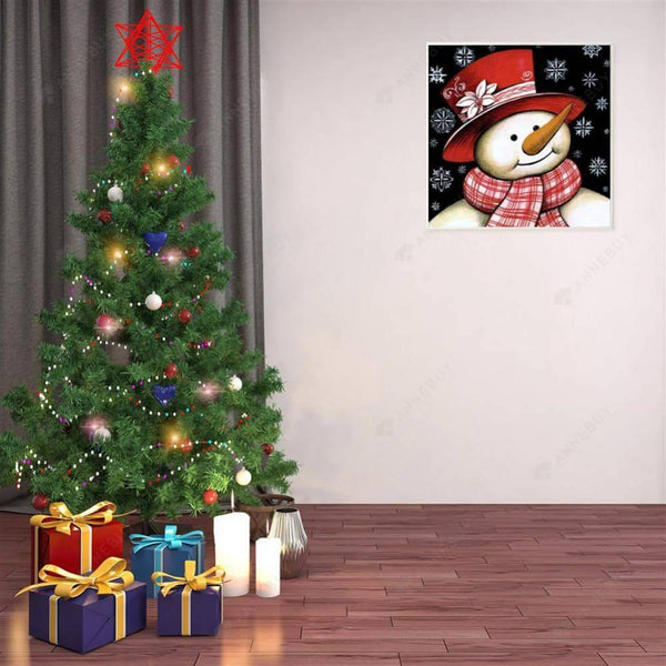 5D Full Drill-Christmas Snowman Cross Stitch Embroider
