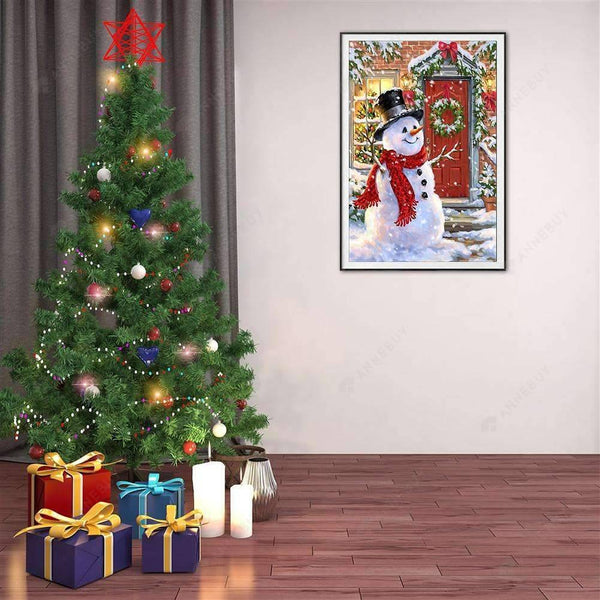 Diamond Painting- 5D Full Drill Christmas Snowman