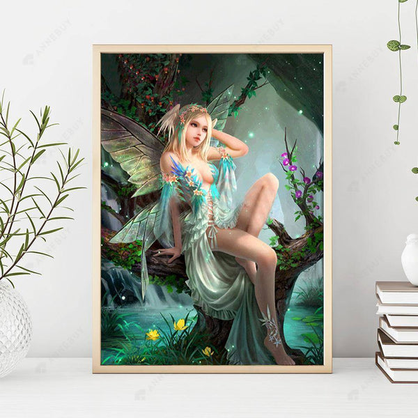 Diamond Painting -Full Drill Butterfly Fairy