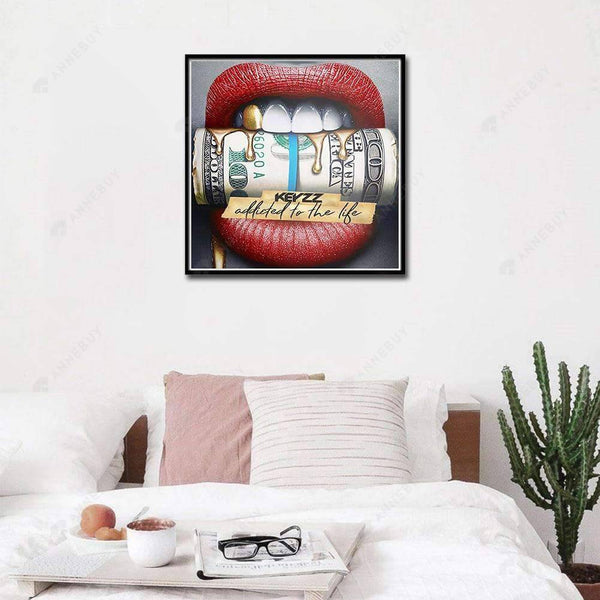 5D Full Drill-Novelty Lip Cross Stitch Embroidery Kits