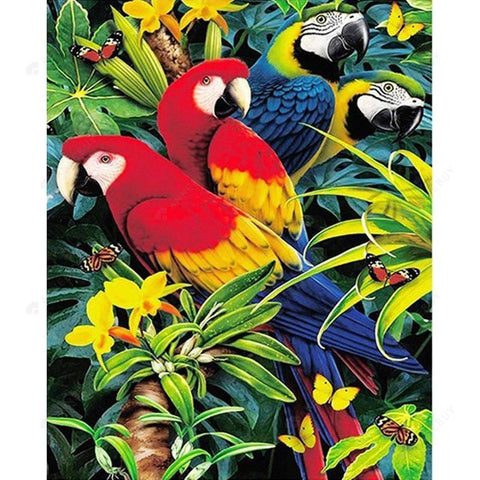 Diamond Painting- 5D Full Drill  Parrots Deco