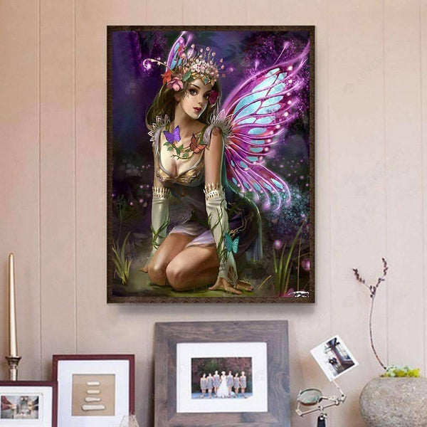 Diamond Painting- 5D Full Drill Butterfly Fairy