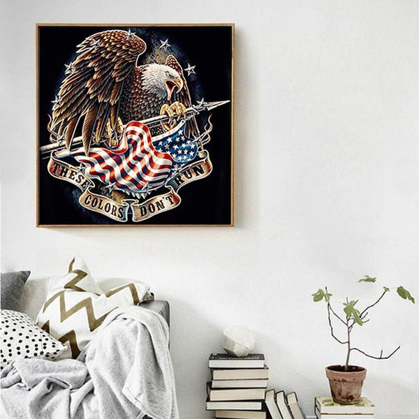 Diamond Painting -DIY Full Round Drill  Fly Eagle