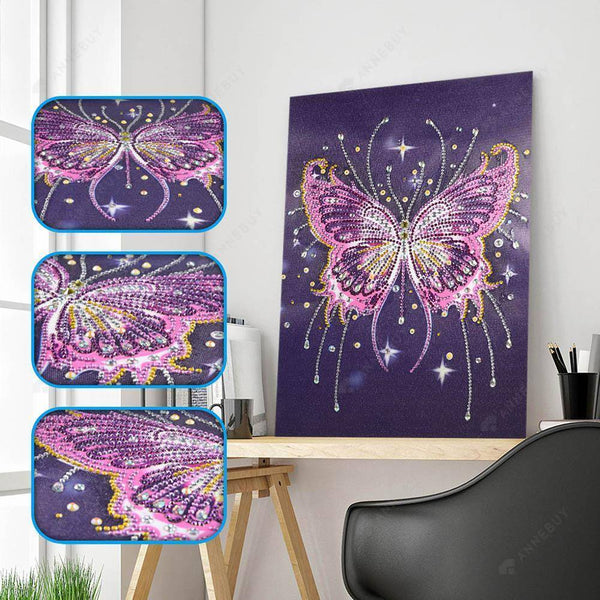 Diamond Painting-5D DIY Crystal Rhinestone Butterfly