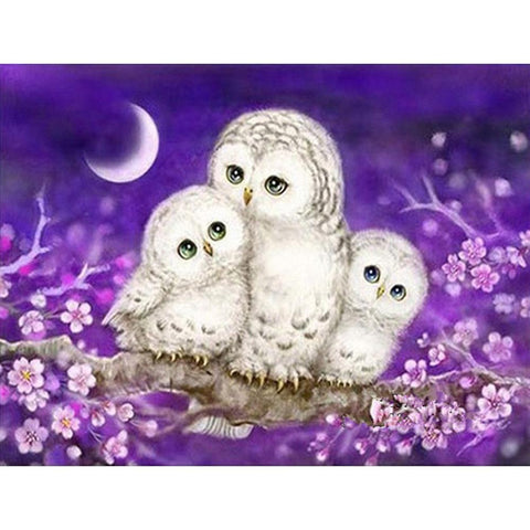 Diamond Painting-DIY Partial Round Drill Colorful Owl