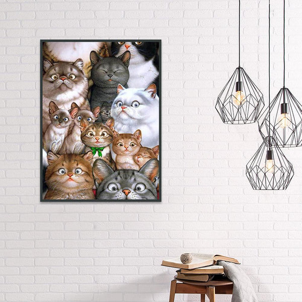 Diamond Painting -DIY Full Round Drill Cat