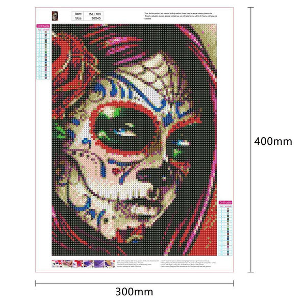 Diamond Painting -DIY Full Round Drill Novelty Face