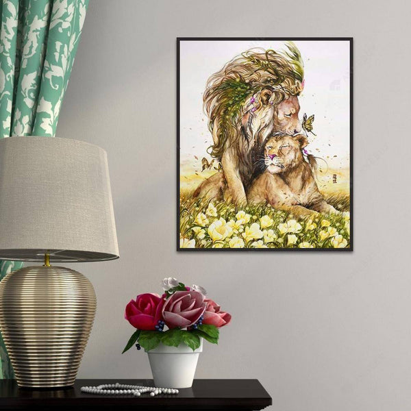 Diamond Painting -DIY Full Round Drill Lion