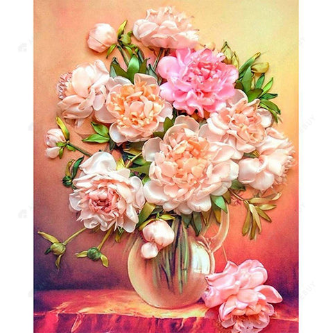 Diamond Painting-DIY Full Round Drill Flower(55*45cm)