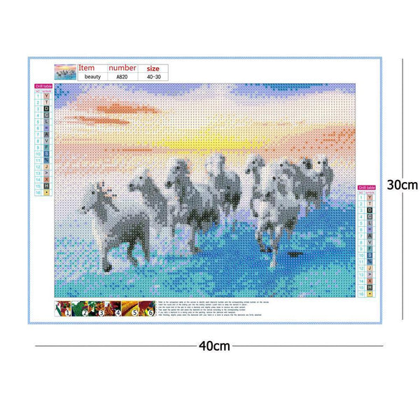 Diamond Painting -DIY Full Round Drill Horse Pentium