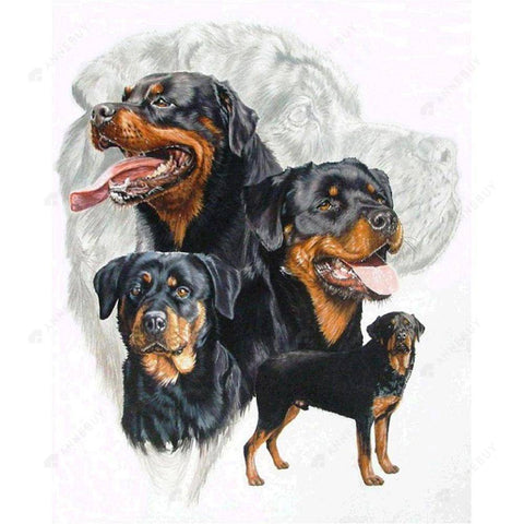 Diamond Painting-DIY Full Round Drill Dogs Group