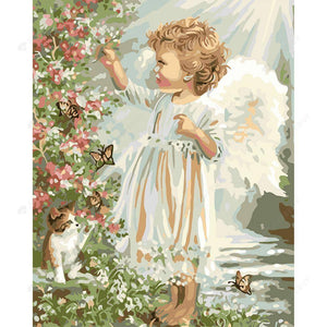 Diamond Painting -DIY Full Round Drill Child Angel