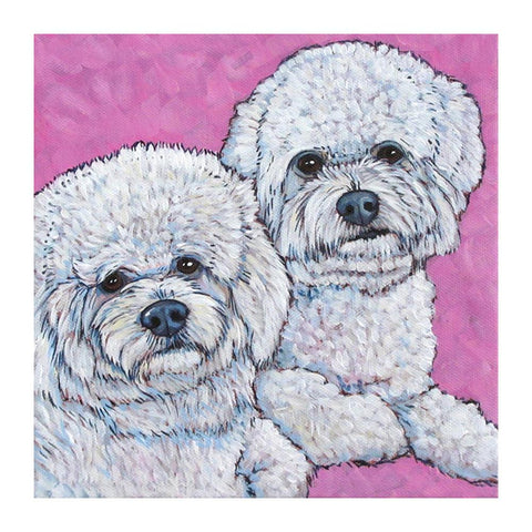Diamond Painting-DIY Full Round Drill White Dogs