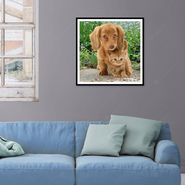 Diamond Painting -DIY Full Drill Dog and Cat