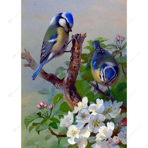 Diamond Painting -DIY Full Round Drill Naughty Birds on Branch