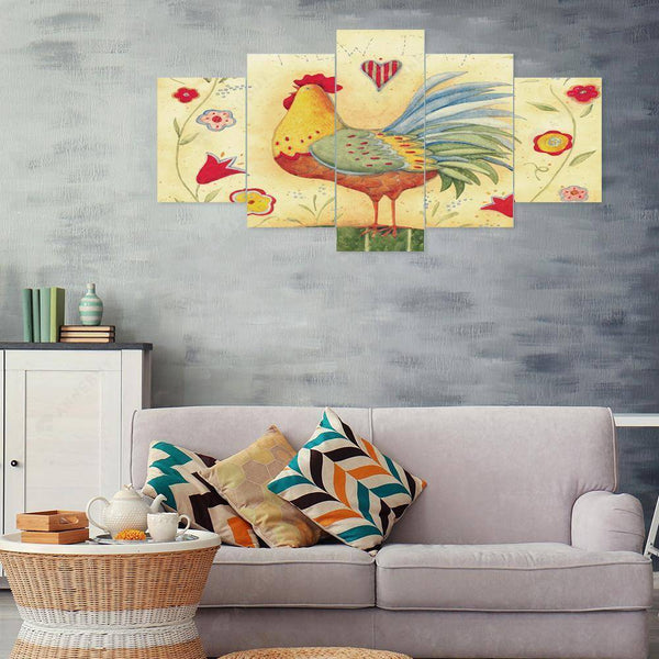 Diamond Painting -DIY Full Round Drill 5pc Cock Room Wall Decor