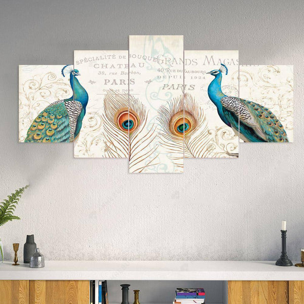 Diamond Painting -DIY Full Round Drill 5pc Peacocks Room Wall Decor