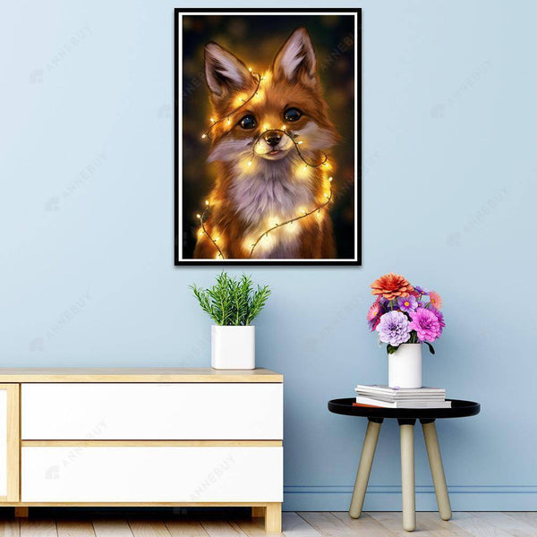 Diamond Painting -DIY Full Square Drill Cute Dog with Light