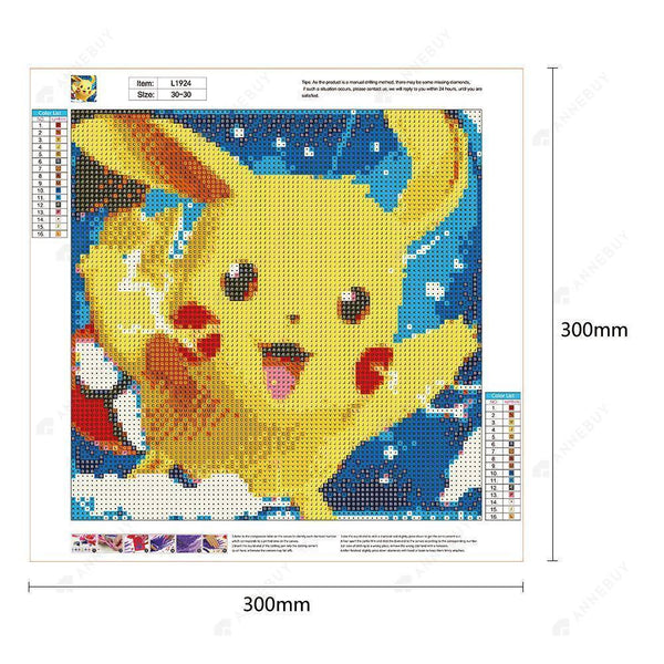 Diamond Painting-DIY Full Round Drill Cute Pikachu